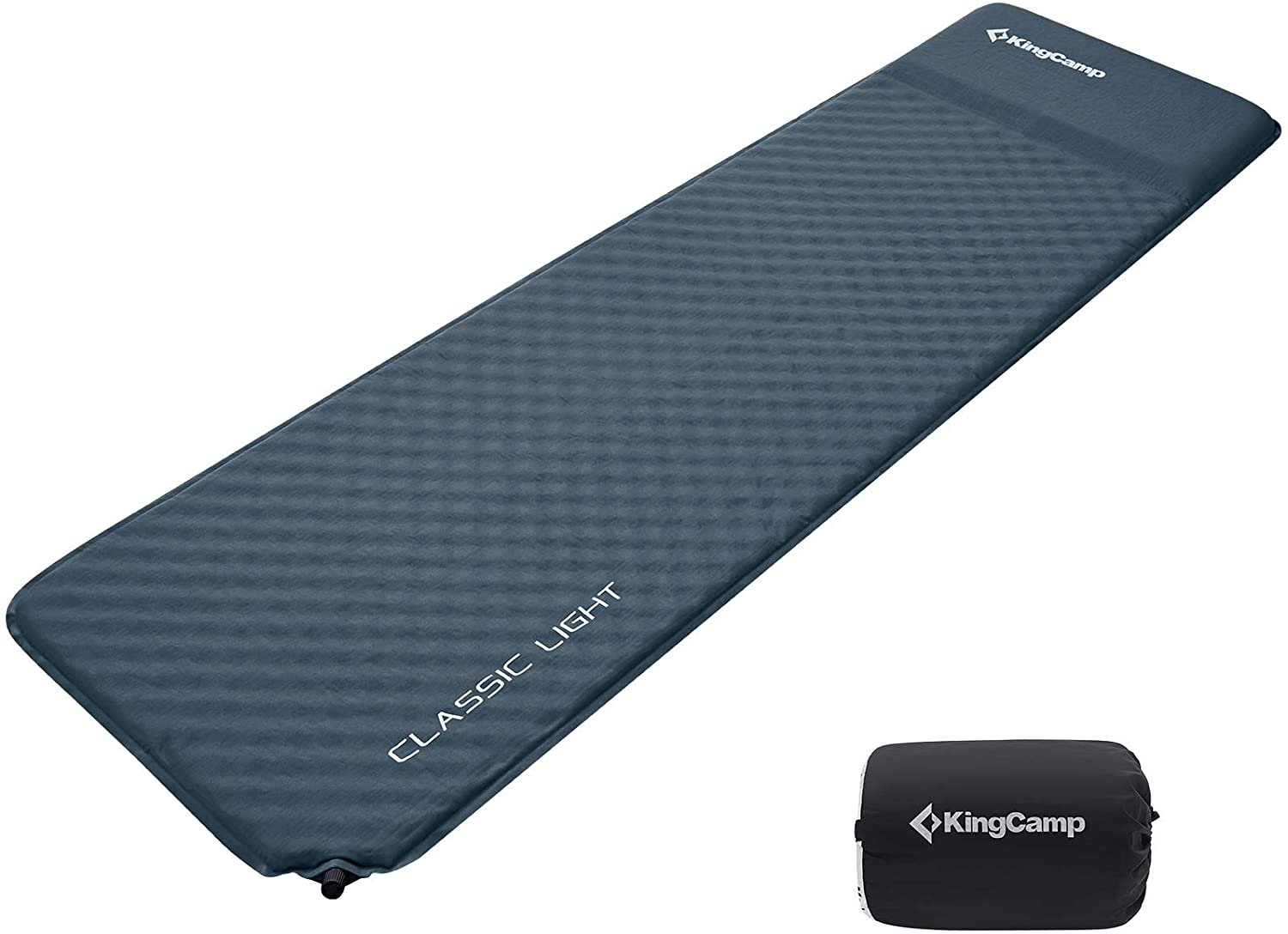 image showing the KingCamp Comfort Self-Inflating Camping Pad with Built-In Pillow